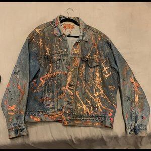 Custom made jean jacket oversized